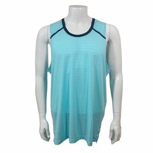 RHONE SWIFT STRETCH TANK IN TANAGER TURQUOISE